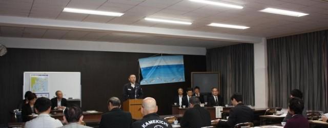 平成28年4月18日(月)つくみまぐろ研究会の通常総会を開催しました。 議案審議の後、保戸島まぐろ船主組合大河組合長より「まぐろはえ縄漁」についてお話をしていただきました。